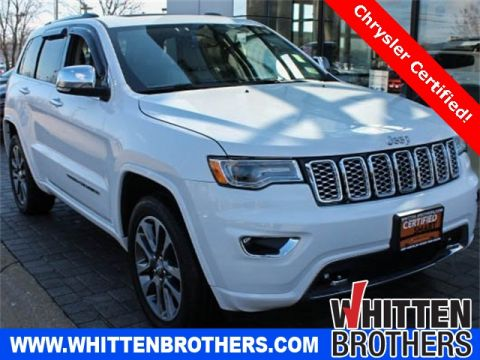 CERTIFIED PRE-OWNED 2017 JEEP GRAND CHEROKEE OVERLAND WITH NAVIGATION & 4WD